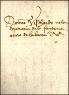 53 1496 - Lettera Completa Di Testo Da Bergamo 14/3/1496 A Venezia, Completa Di Sigillo Di Chiusura Con... - Italy