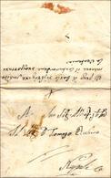 """61 1812 - Lettera Completa Di Testo Da San Cipriano 3/10/1812 A Napoli, Manoscritto Al Verso """"vi Prego ... - Italy"""