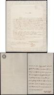 62 1838 - Due Carte Da Lettere, Una Con Decoro Traforato Sul Bordo, L'altra Con Fine Impressione A Secc... - Italy