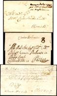 """64 1802/26 - Tre Lettere Del Periodo Con Indicazioni Postali Di """"condannata"""". Notato Un """"consegnandola ... - Lombardy-Venetia"""