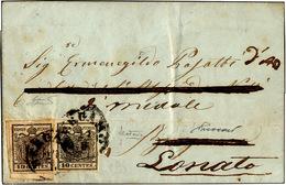 69 1858 - 15 Cent. Rosso Vermiglio, A Macchina (20), Perfetto, Su Lettera Da Castiglione Delle Stiviere... - Lombardy-Venetia