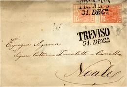 75 1852 - 15 Cent. Rosa, II Tipo, Perfetto, 15 Cent. Rosso, III Tipo, Sfiorato In Basso, Entrambi Carta... - Lombardy-Venetia