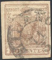 86 FALSI PER POSTA 1857 - 30 Cent. Bruno Grigiastro, Falso Per Posta Di Milano (F6b), Usato A Milano 11... - Lombardy-Venetia