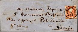 89 1858 - 5 Soldi Rosso, I Tipo, Formato Più Alto Per Salto Di Dentellatura E Principio Di Croce Di San... - Lombardy-Venetia