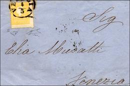 93 1860 - 2 Soldi Giallo, II Tipo, Dentellatura Fortemente Spostata Nei Due Sensi (28), Perfetto, Isola... - Lombardy-Venetia