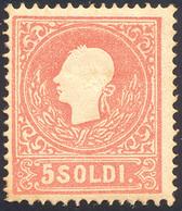 95 1859 - 5 Soldi, II Tipo (30), Gomma Originale, Perfetto. Enzo Diena.... - Lombardy-Venetia