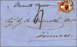 97 1861 - 10 Soldi Bruno (31), Dentellatura Orizzontale Fortemente Spostata, Perfetto, Su Sovracoperta ... - Lombardy-Venetia