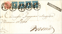 100 1863 - 15 Soldi Azzurro, II Tipo, Quattro Esemplari E 5 Soldi Rosa (32,38), Un Esemplare Con Lieve P... - Lombardy-Venetia