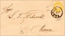 106 1866 - 2 Soldi Giallo, Dent. 14 (36), Perfetto, Isolato Su Circolare Da Padova 14/3/1866 A Verona. M... - Lombardy-Venetia