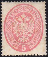 108 1863 - 5 Soldi Rosa, Dent. 14 (38), Gomma Integra, Perfetto. Molto Raro E Di Ottima Centratura. Emil... - Lombardy-Venetia