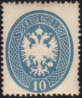 109 1863 - 10 Soldi Azzurro, Dent. 14 (39), Gomma Integra, Perfetto E Ben Centrato. Molto Raro! Emilio D... - Lombardy-Venetia