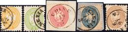113 1864/65 - Quinta Emissione, Dent. 9 1/2 (41/45), Usati, Perfetti.... - Lombardy-Venetia