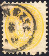 114 1865 - 2 Soldi Giallo, Dent. 9 1/2 (41), Perfetto, Usato A Venezia. Non Comune!... - Lombardy-Venetia