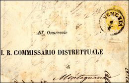 115 1866 - 2 Soldi Giallo, Dent. 9 1/2 (41), Perfetto, Isolato Su Sovracoperta Di Stampato Da Venezia 9/... - Lombardy-Venetia