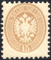 118 1864 - 15 Soldi Bruno, Dent. 9 1/2 (45), Gomma Originale Integra, Perfetto. Molto Fresco. Cert. Rayb... - Lombardy-Venetia