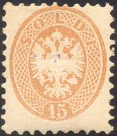 119 1864 - 15 Soldi Bruno, Dent. 9 1/2 (45), Nuovo, Gomma Originale, Perfetto. Ferrario.... - Lombardy-Venetia