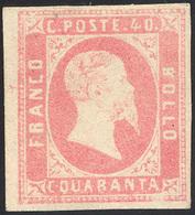 695 1851 - 40 Cent. Rosa (3), Nuovo Senza Gomma, Ampi Margini, Lieve Assottigliamento. Ottimo Aspetto. A... - Sardinia
