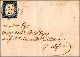 763 BONORVA, Doppio Cerchio D Punti 13 - 20 Cent. Azzurro (15Ca), Leggermente Corto A Destra, Su Fresca ... - Sardinia
