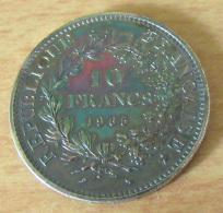 Monnaie 10 Francs Hercule 1965 - Etat SUP + Avec Patine Exceptionnelle - France