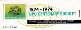 AUSTRALIA 1974 UPU Sc 597-98 Booklet - Markenheftchen