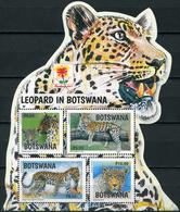 Botswana. 2017. Leopard In Botswana. Bandung International Philatelic Exposition Overprint (MNH OG **) Stamp - Botswana (1966-...)