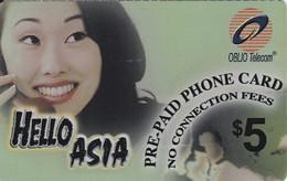 TARJETA DE ESTADOS UNIDOS DE HELLO ASIA - CHICA HABLANDO POR TELEFONO - Estados Unidos