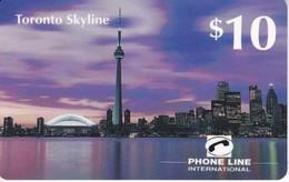 TARJETA DE LA COMPAÑIA PHONE LINE DE LA CIUDAD DE TORONTO DE 10$ (SKY LINE) - Canada