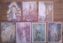 Lot De 7 Cartes Postales Illustreateur Sulamith WÜLFING - Contemporain (à Partir De 1950)
