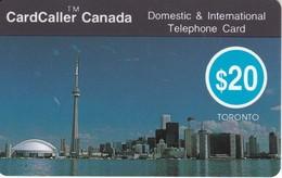 TARJETA DE LA COMPAÑIA CARDCALLER DE LA CIUDAD DE TORONTO DE 20$ (SKY LINE) - Canada