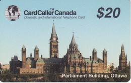 TARJETA DE LA COMPAÑIA CARDCALLER DEL PARLIAMENT BUILDING DE OTTAWA DE $20 - Canada