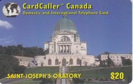 TARJETA DE CANADA DE LA COMPAÑIA CARDCALLER DE SAINT JOSEPH'S ORATORY DE $20 - Canada