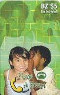 TARJETA DE BTL DE BELICE DE 5$ DE 2 NIÑOS HABLANDO - Belize