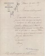 Jen. Administration Communale De Ghlin. Le 29/08/1849 - Belgique