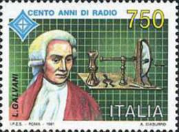 Ref. 131550 * NEW *  - ITALY . 1991. CENTENARY OF THE RADIO INVENTION. CENTENARIO DE LA INVENCION DE LA RADIO - 6. 1946-.. Republic