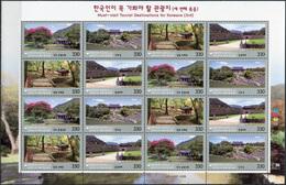 Korea South. 2017. Houses And Fortresses (MNH OG **) Miniature Sheet - Korea (Süd-)