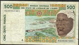 W.A.S. IVORY COAST P110Aa 500 FRANCS 1992 VF NO P.h. ! - West-Afrikaanse Staten