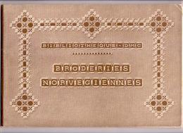 BRODERIES NORVEGIENNES BIBLIOTHEQUE DMC Ca1930 BRODERIE D.M.C. POINT DE CROIX CROSS STITCH KRUISSTEEK DENTELLE Z252 - Autres