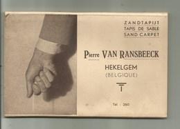 Hekelgem - Boekje Met 8 Postkaarten  Zandtapijt -compleet - Affligem