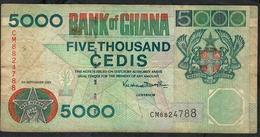 GHANA P34f 5000 CEDIS 2001   F-VF NO P.h. Rare Date ! - Ghana