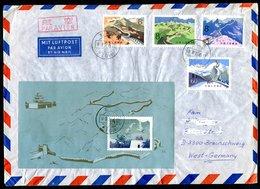 6946 - VR CHINA - Mi.Nr. 1486-1489 Und Block 15 Auf LP-Brief Nach Braunschweig - 1949 - ... République Populaire