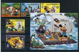 A26721)Disney: Dominica 933 - 937** + Bl 103** - Disney