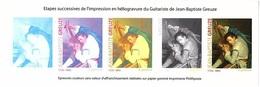 FRANCE BLOC ETAPES SUCCESSIVES D'IMPRESSION Jean-Baptiste Greuze - Autres