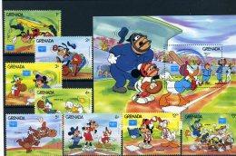 A26772)Disney: Grenada 1471 - 1478** + Bl 158** - Disney