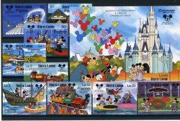 A26821)Disney: Sierra Leone 1056 - 1064** + Bl 72** - Disney