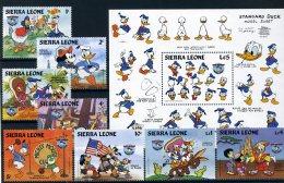 A26823)Disney: Sierra Leone 789 - 797** + Bl 26** - Disney
