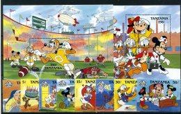 A26834)Disney: Tansania 488 - 495** + Bl 79** + 80** - Disney