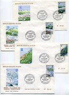 RC 9561 NIGER JEUX OLYMPIQUES DE GRENOBLE 1968 SERIE VUE DES SITES OLYMPIQUES 1er JOUR FDC TB - Winter 1968: Grenoble