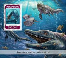 MOZAMBIQUE 2018 - Water Prehistorics S/S. Official Issue - Préhistoriques