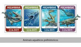 MOZAMBIQUE 2018 - Water Prehistorics. Official Issue - Prehistorisch