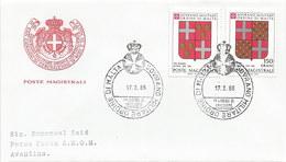 Malta - Malteserorden 1986: 2x FDC Mit Nr. 251-255 #X77 - Malta (Orden Von)